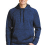 Sport-Tek Mens Electric Heather Moisture Wicking Fleece Hooded Sweatshirt Hoodie - Dark Royal Blue Electric