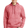 Sport-Tek Mens Electric Heather Moisture Wicking Fleece Hooded Sweatshirt Hoodie - Deep Red Electric