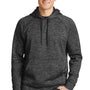 Sport-Tek Mens Electric Heather Moisture Wicking Fleece Hooded Sweatshirt Hoodie - Grey Black Electric