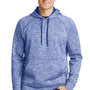 Sport-Tek Mens Electric Heather Moisture Wicking Fleece Hooded Sweatshirt Hoodie - True Royal Blue Electric