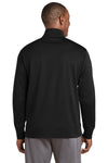 Sport-Tek ST241 Mens Sport-Wick Moisture Wicking Fleece Full Zip Sweatshirt Black Back