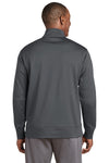 Sport-Tek ST241 Mens Sport-Wick Moisture Wicking Fleece Full Zip Sweatshirt Dark Grey Back