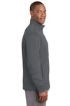 Sport-Tek ST241 Mens Sport-Wick Moisture Wicking Fleece Full Zip Sweatshirt Dark Grey Side