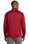 Sport-Tek ST241 Mens Sport-Wick Moisture Wicking Fleece Full Zip Sweatshirt Red Back