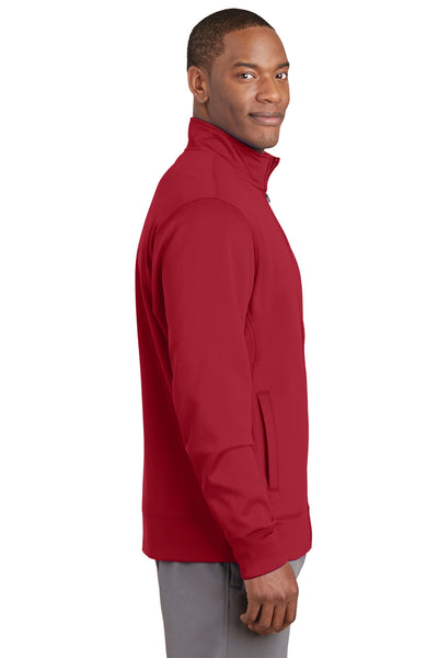 Sport-Tek ST241 Mens Sport-Wick Moisture Wicking Fleece Full Zip Sweatshirt Red Side