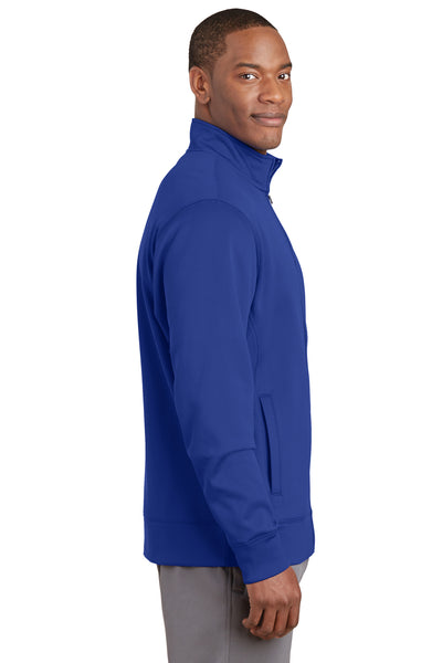 Sport-Tek ST241 Mens Sport-Wick Moisture Wicking Fleece Full Zip Sweatshirt Royal Blue Side