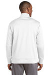 Sport-Tek ST241 Mens Sport-Wick Moisture Wicking Fleece Full Zip Sweatshirt White Back
