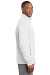 Sport-Tek ST241 Mens Sport-Wick Moisture Wicking Fleece Full Zip Sweatshirt White Side