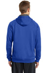 Sport-Tek ST250 Mens Tech Moisture Wicking Fleece Hooded Sweatshirt Hoodie Royal Blue Back