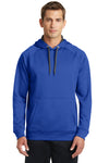 Sport-Tek ST250 Mens Tech Moisture Wicking Fleece Hooded Sweatshirt Hoodie Royal Blue Front