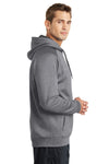 Sport-Tek ST250 Mens Tech Moisture Wicking Fleece Hooded Sweatshirt Hoodie Heather Vintage Grey Side
