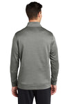 Sport-Tek ST263 Mens Heather Sport-Wick Moisture Wicking Fleece 1/4 Zip Sweatshirt Black Back