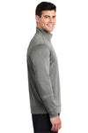Sport-Tek ST263 Mens Heather Sport-Wick Moisture Wicking Fleece 1/4 Zip Sweatshirt Black Side