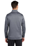 Sport-Tek ST263 Mens Heather Sport-Wick Moisture Wicking Fleece 1/4 Zip Sweatshirt Navy Blue Back