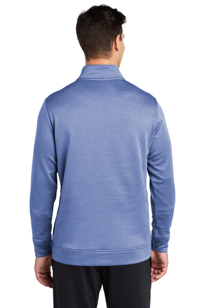 Sport-Tek ST263 Mens Heather Sport-Wick Moisture Wicking Fleece 1/4 Zip Sweatshirt Royal Blue Back