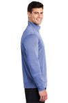 Sport-Tek ST263 Mens Heather Sport-Wick Moisture Wicking Fleece 1/4 Zip Sweatshirt Royal Blue Side
