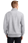 Sport-Tek ST283 Mens Fleece 1/4 Zip Sweatshirt Heather Grey Back