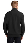 Sport-Tek ST283 Mens Fleece 1/4 Zip Sweatshirt Black Back
