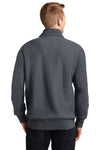 Sport-Tek ST283 Mens Fleece 1/4 Zip Sweatshirt Heather Graphite Grey Back