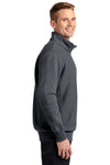 Sport-Tek ST283 Mens Fleece 1/4 Zip Sweatshirt Heather Graphite Grey Side