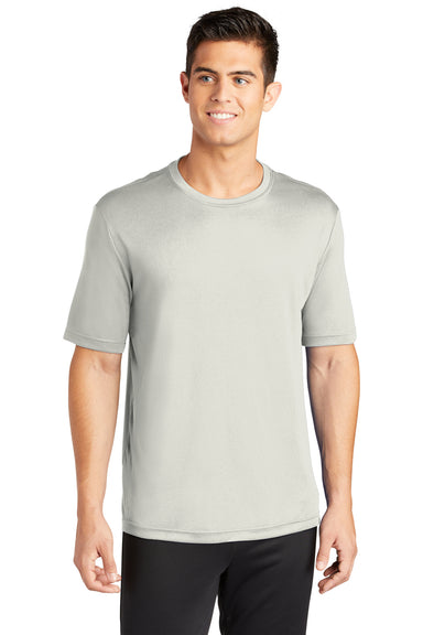 Sport-Tek ST350 Mens Competitor Moisture Wicking Short Sleeve Crewneck T-Shirt Silver Grey Front