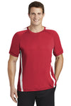 Sport-Tek ST351 Mens Competitor Moisture Wicking Short Sleeve Crewneck T-Shirt Red Front