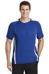 Sport-Tek ST351 Mens Competitor Moisture Wicking Short Sleeve Crewneck T-Shirt Royal Blue/White Front