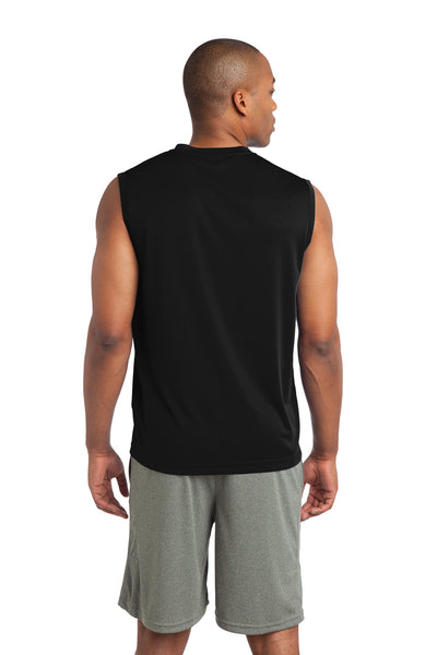 Sport-Tek ST352 Mens Competitor Moisture Wicking Tank Top Black Back