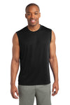 Sport-Tek ST352 Mens Competitor Moisture Wicking Tank Top Black Front