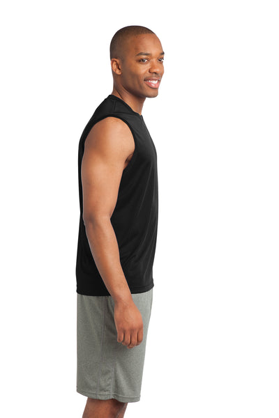 Sport-Tek ST352 Mens Competitor Moisture Wicking Tank Top Black Side