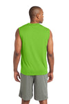 Sport-Tek ST352 Mens Competitor Moisture Wicking Tank Top Lime Green Back