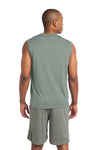 Sport-Tek ST352 Mens Competitor Moisture Wicking Tank Top Silver Grey Back