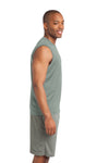 Sport-Tek ST352 Mens Competitor Moisture Wicking Tank Top Silver Grey Side