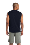 Sport-Tek ST352 Mens Competitor Moisture Wicking Tank Top Navy Blue Back