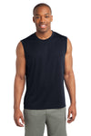 Sport-Tek ST352 Mens Competitor Moisture Wicking Tank Top Navy Blue Front
