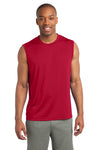 Sport-Tek ST352 Mens Competitor Moisture Wicking Tank Top Red Front