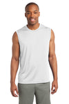 Sport-Tek ST352 Mens Competitor Moisture Wicking Tank Top White Front
