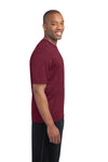 Sport-Tek ST360 Mens Contender Heather Moisture Wicking Short Sleeve Crewneck T-Shirt Cardinal Red Side