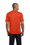 Sport-Tek ST360 Mens Contender Heather Moisture Wicking Short Sleeve Crewneck T-Shirt Orange Back