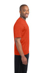 Sport-Tek ST360 Mens Contender Heather Moisture Wicking Short Sleeve Crewneck T-Shirt Orange Side