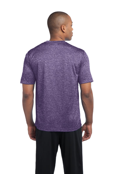 Sport-Tek ST360 Mens Contender Heather Moisture Wicking Short Sleeve Crewneck T-Shirt Purple Back