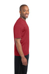 Sport-Tek ST360 Mens Contender Heather Moisture Wicking Short Sleeve Crewneck T-Shirt Red Side