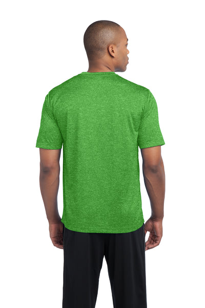 Sport-Tek ST360 Mens Contender Heather Moisture Wicking Short Sleeve Crewneck T-Shirt Turf Green Back