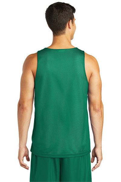 Sport-Tek ST500 Mens Reversible Mesh Moisture Wicking Tank Top Kelly Green Back