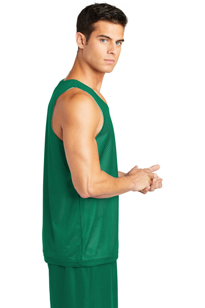 Sport-Tek ST500 Mens Reversible Mesh Moisture Wicking Tank Top Kelly Green Side