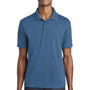 Sport-Tek Mens RacerMesh Moisture Wicking Short Sleeve Polo Shirt - Dawn Blue