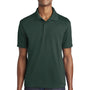 Sport-Tek Mens RacerMesh Moisture Wicking Short Sleeve Polo Shirt - Dark Forest Green