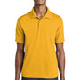Sport-Tek Mens RacerMesh Moisture Wicking Short Sleeve Polo Shirt - Gold