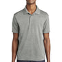 Sport-Tek Mens RacerMesh Moisture Wicking Short Sleeve Polo Shirt - Heather Grey