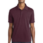 Sport-Tek Mens RacerMesh Moisture Wicking Short Sleeve Polo Shirt - Maroon